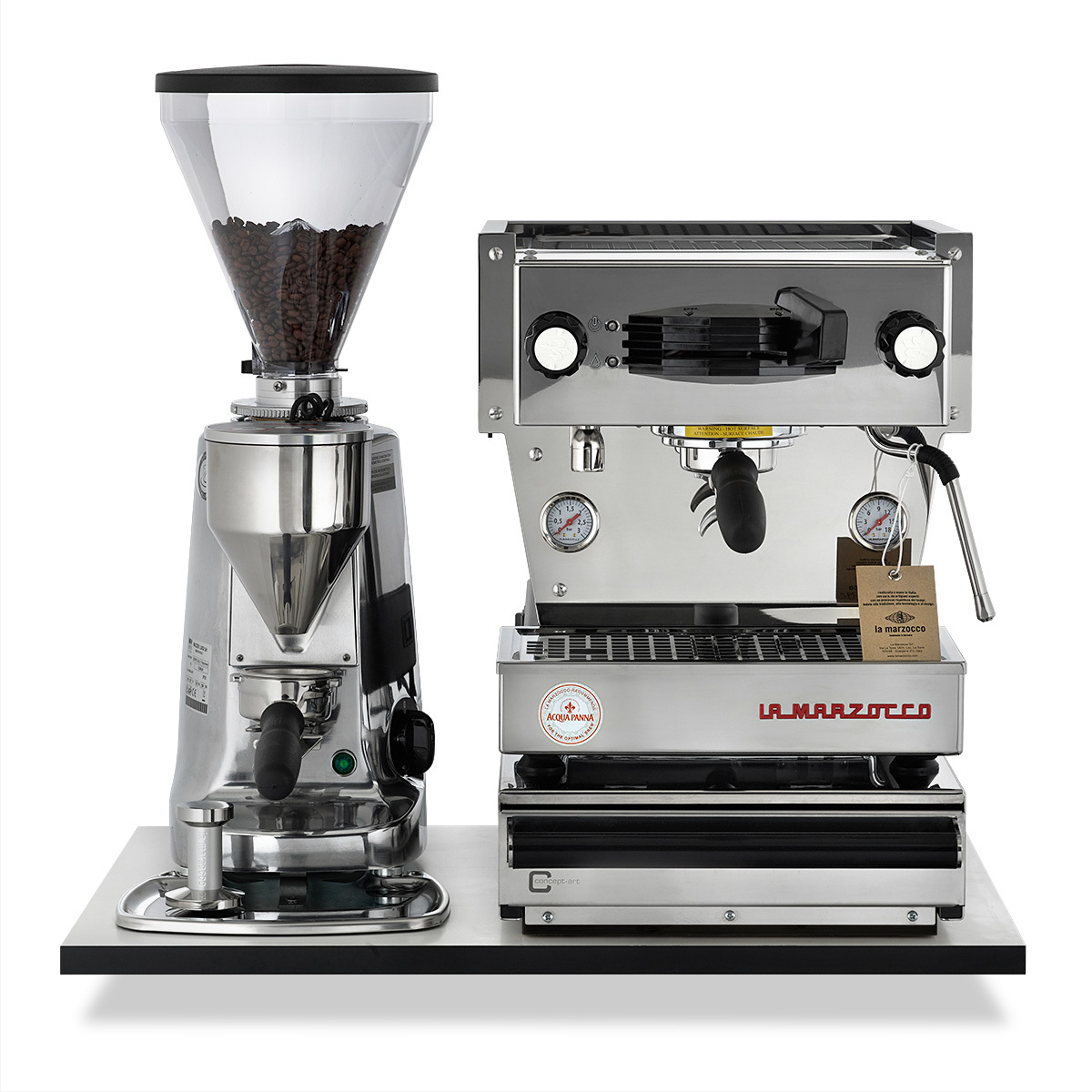 la marzocco linea mini poliert mazzer super jolly poliert domo baresta. Black Bedroom Furniture Sets. Home Design Ideas